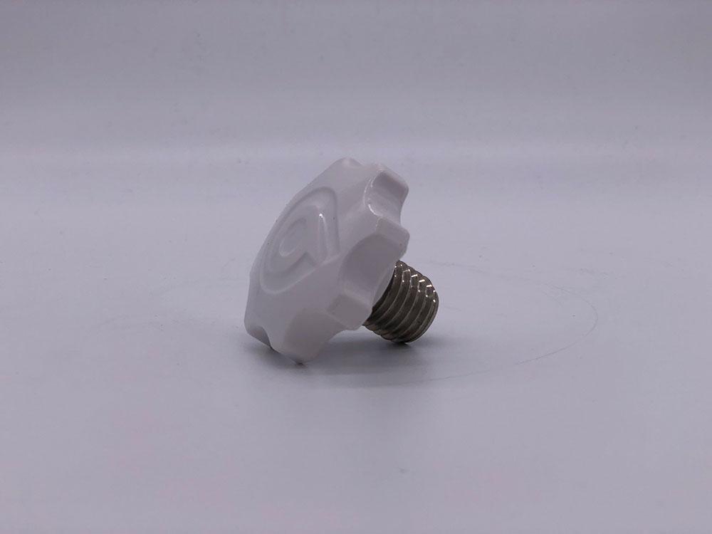 Крепеж рулевой штанги белый для Ninebot E+
